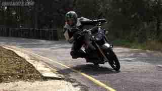 TVS Apache RTR 200 on track