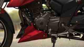 TVS Apache RTR 200 engine left side