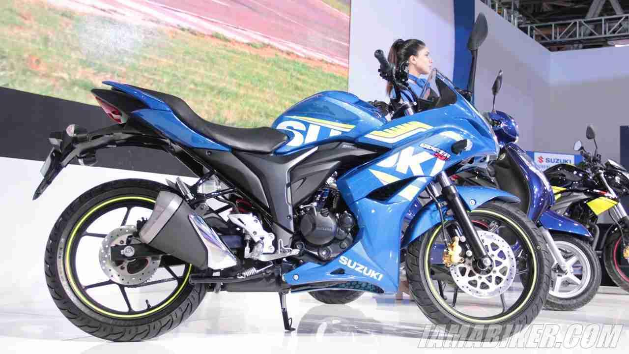 Suzuki Gixxer SF with rear disc brake
