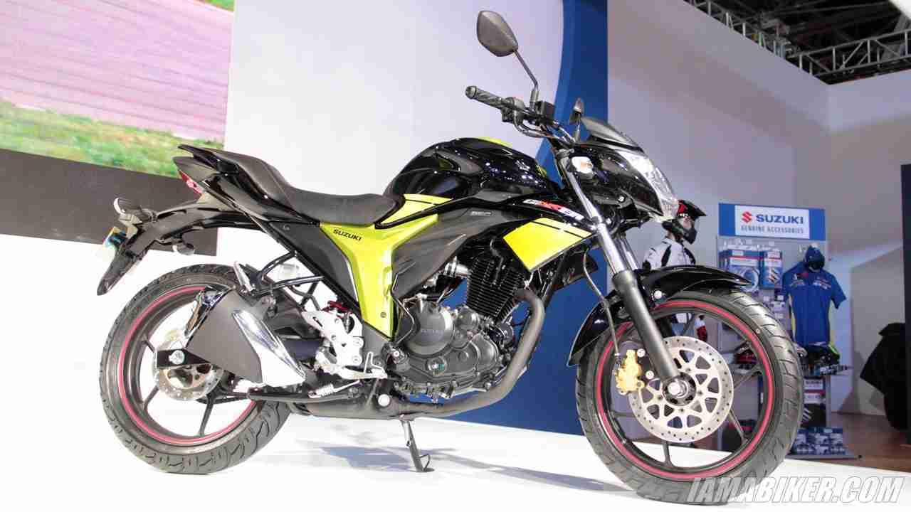 Suzuki Gixxer with rear disc brake