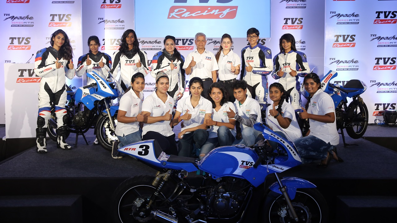 TVS Racing partners with Alisha Abdullah Racing Academy for Women