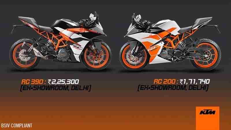 duke rc 200 price in india