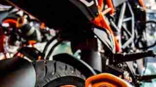 KTM Duke 250 exhaust silencer back view