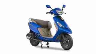 2017 TVS Scooty Zest 110 Matte Blue