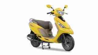 2017 TVS Scooty Zest 110 Matte Yellow