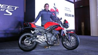 Vimal Sumbly with the 2017 Triumph Street Triple