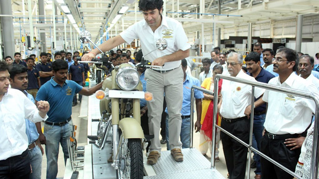 Royal Enfield factory Vallam Vadagal near Chennai