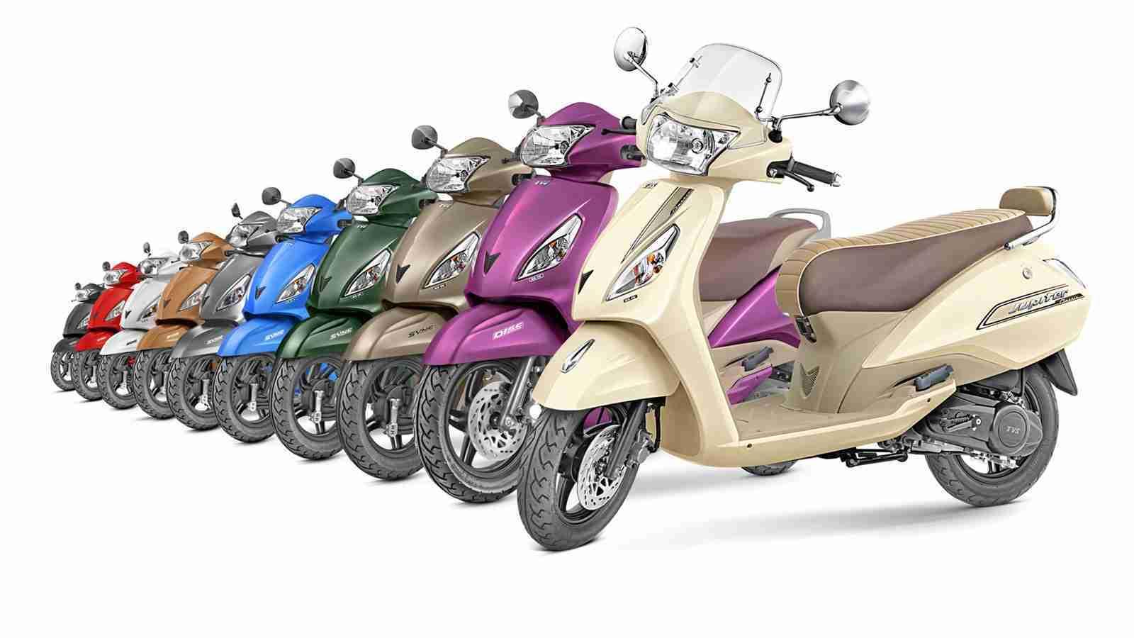 TVS Jupiter all colour options