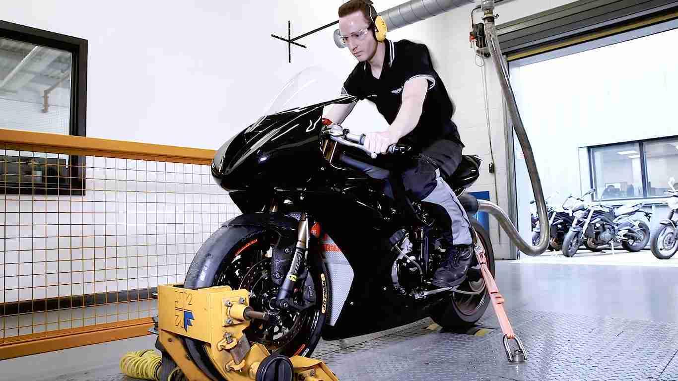 Triumph Moto2 Engine testing