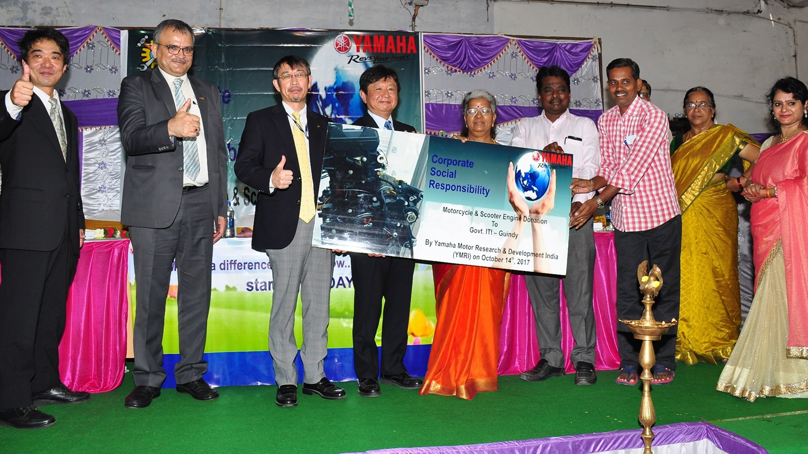 Yamaha continues cut section engine model donation to ITI colleges