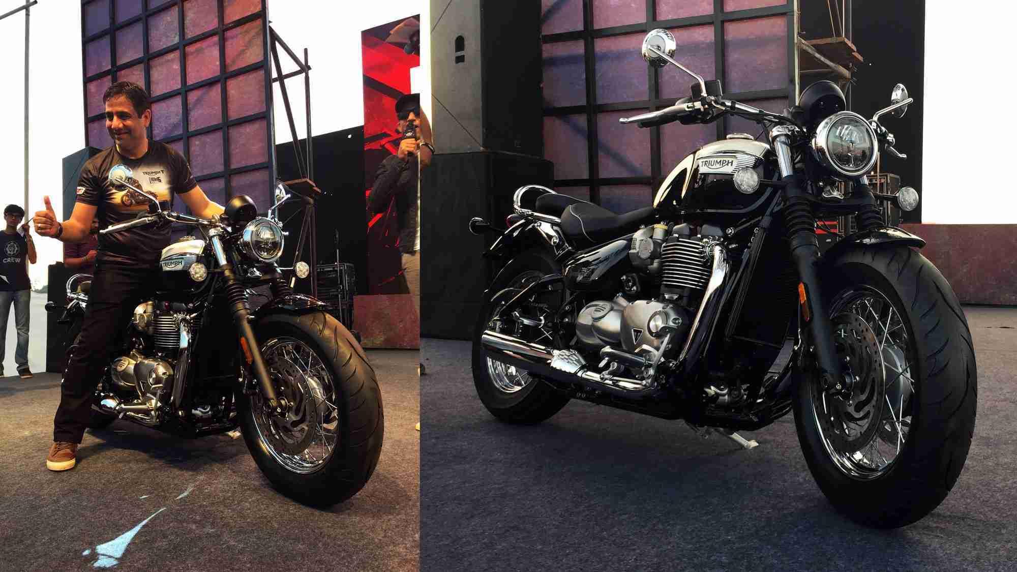 Triumph Bonneville Speedmaster unveiled in India
