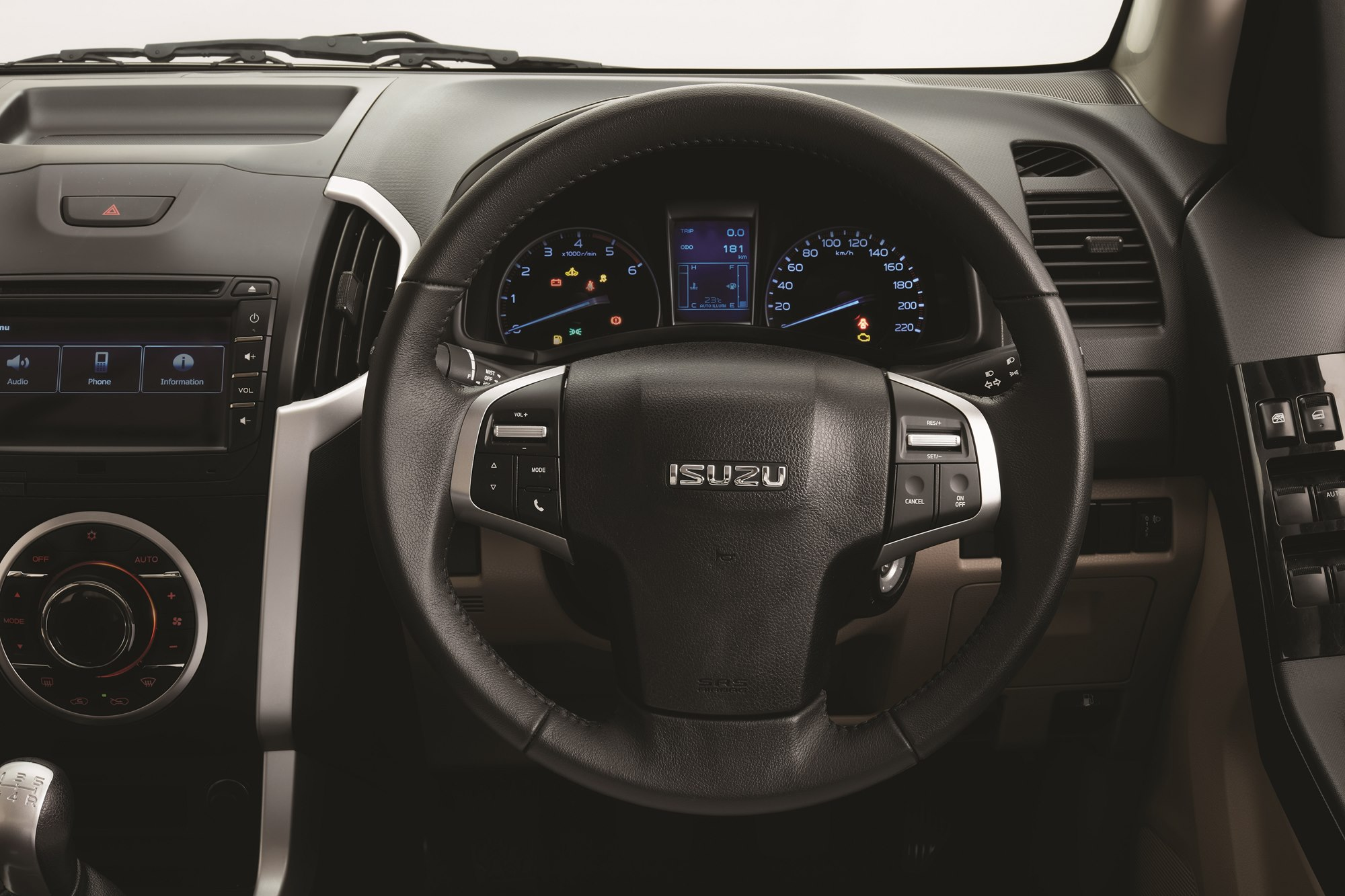 2018 ISUZU D-MAX V-Cross -Auto Cruise Control Steering wheel view