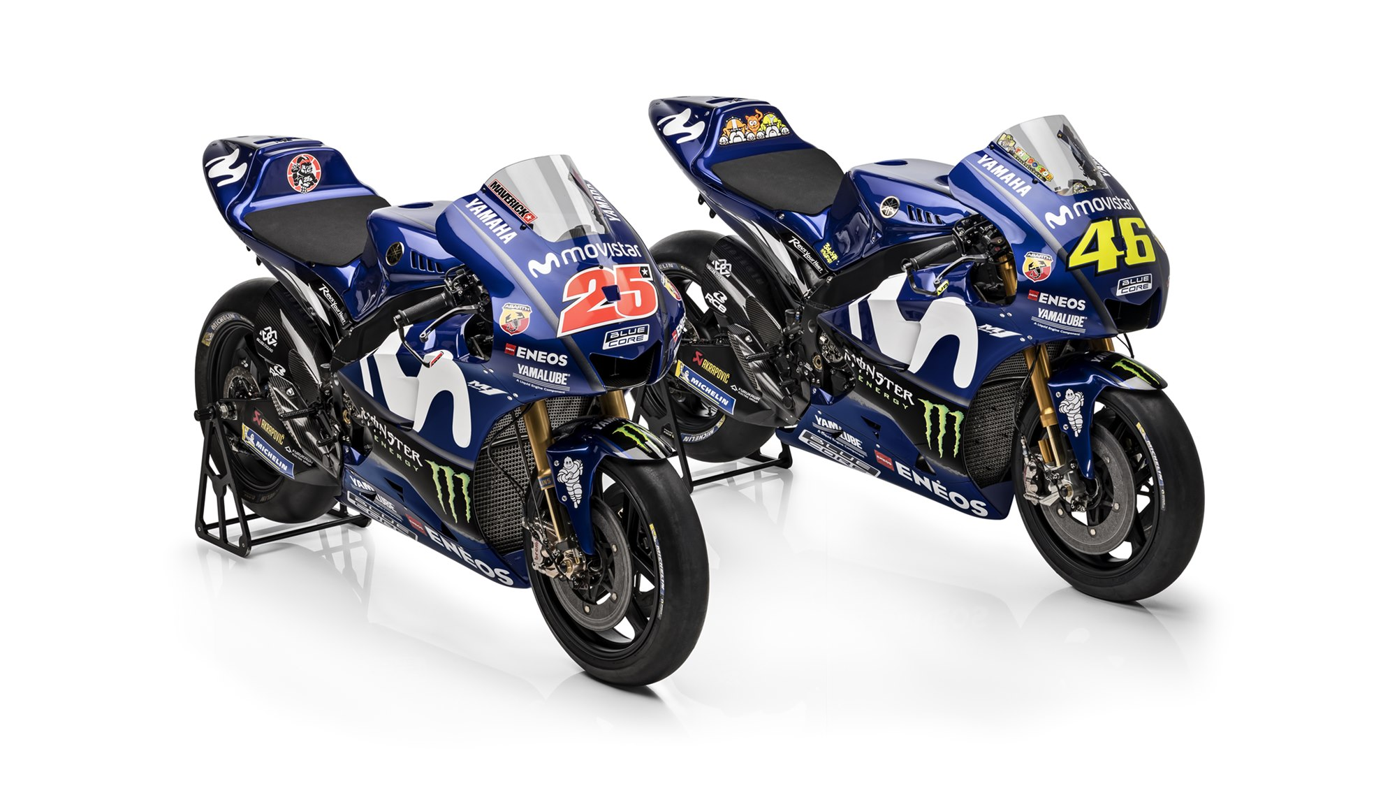 2018 Yamaha MotoGP bikes