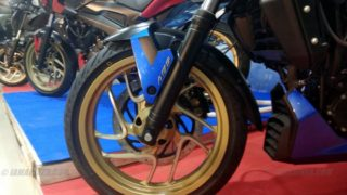 Dominar 400 golden alloy wheels