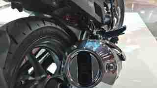 Honda XBlade exhaust silencer