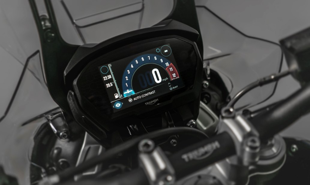 New Tiger 800 instrument panel