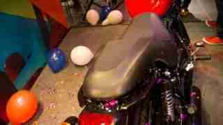 Thunderbird 350X pillion grab rail and seat