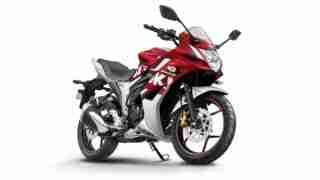 2018 Suzuki Gixxer SF Red Metallic Silver colour option