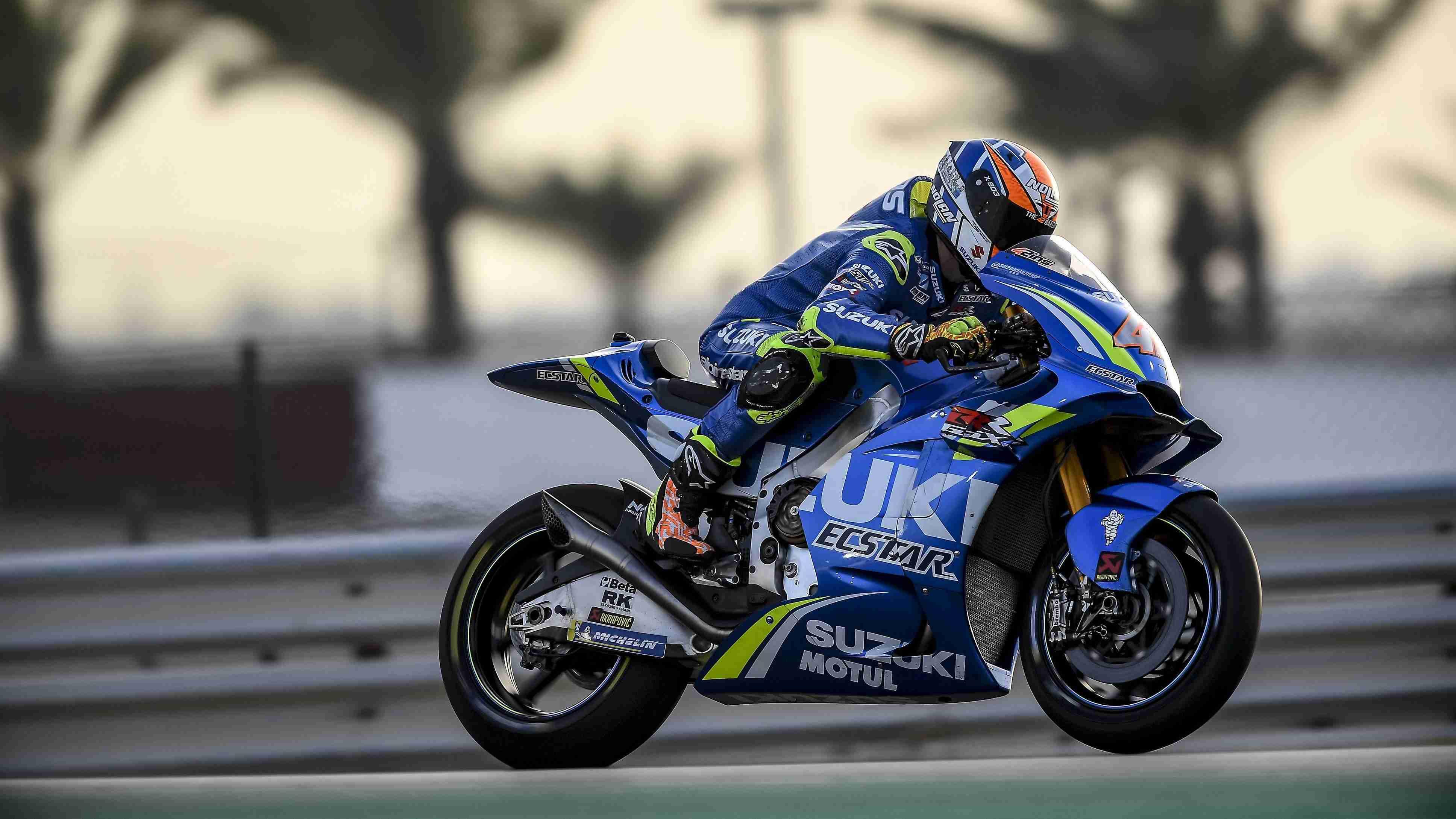 Alex Rins Suzuki Qatar MotoGP test