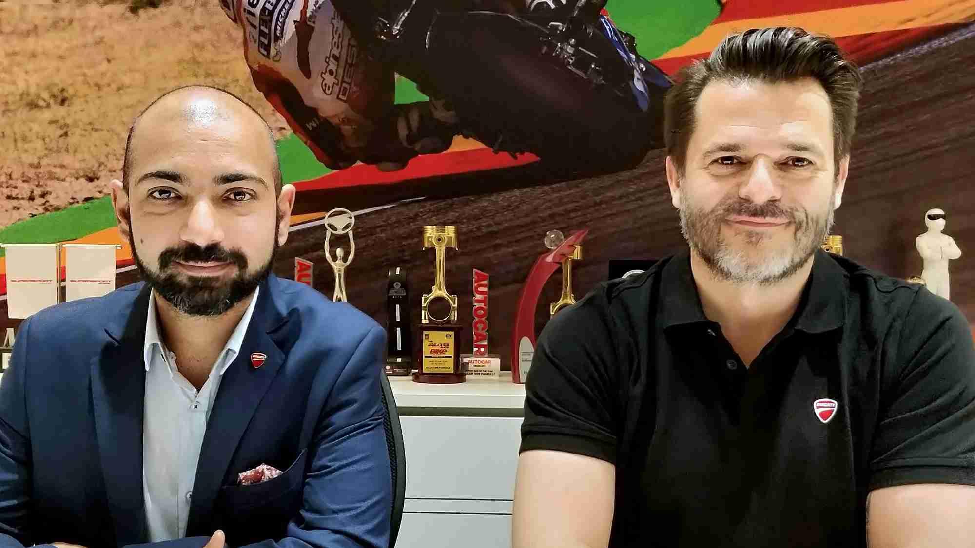 Siddhartha Varma, Director - Marketing with Sergi Canovas, Managing Director, Ducati India