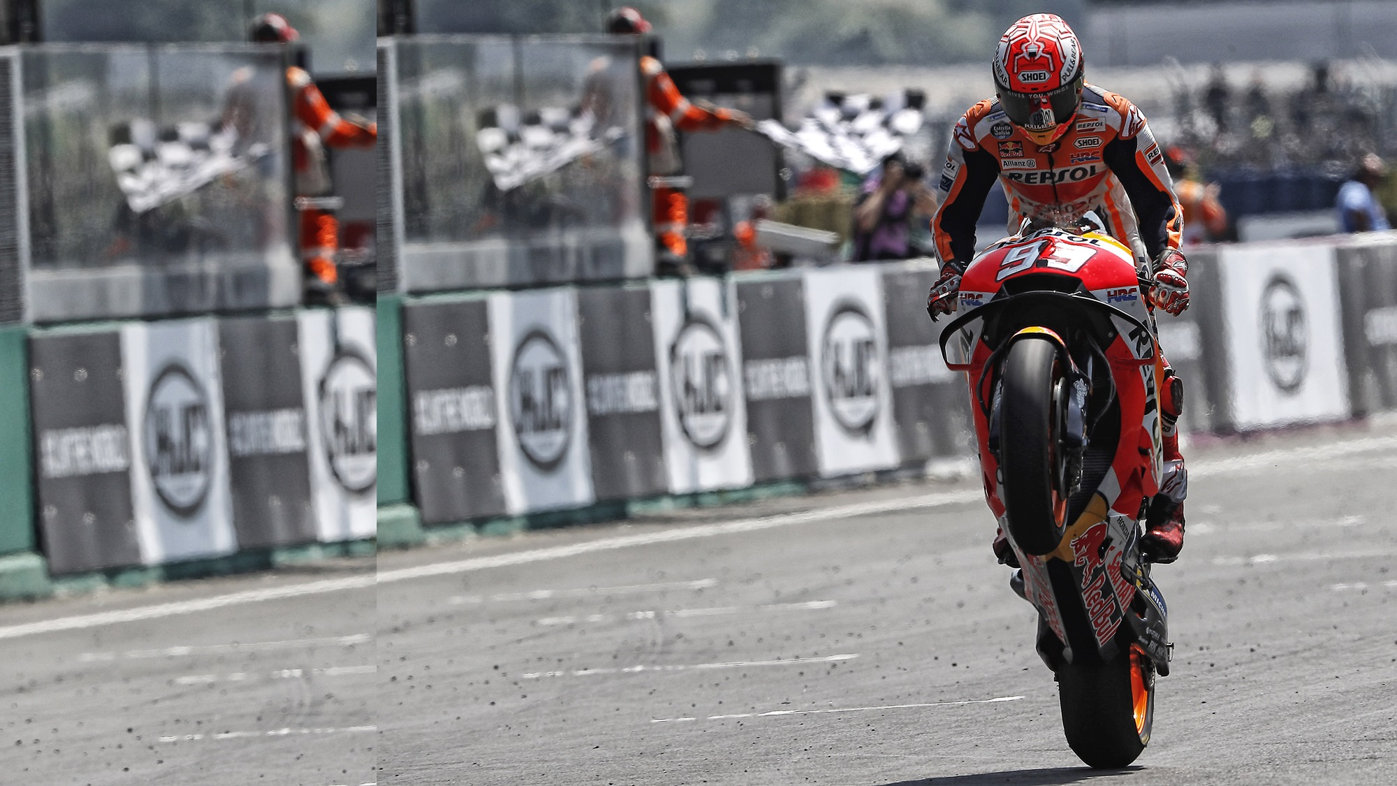 Marc Marquez Le Mans France MotoGP wallpaper