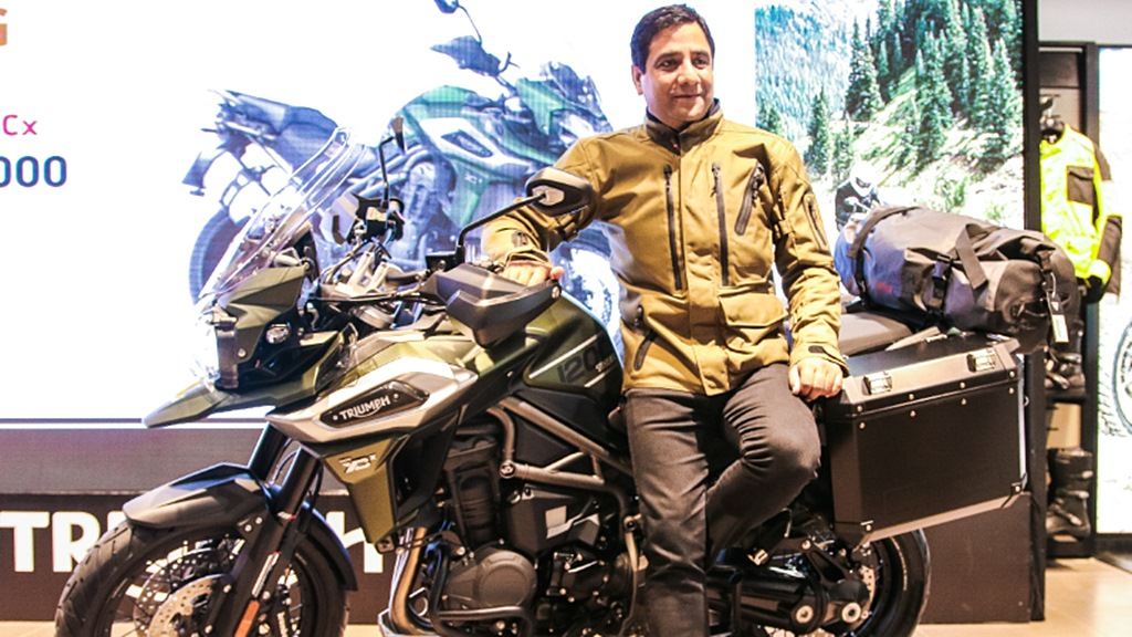 Vimal Sumbly MD with the Tiger Explorer 1200 XCX