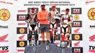 INMRC Pro Stock 165 class podium ceremony