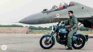 Royal Enfield Signals Airborne Blue - HD wallpaper