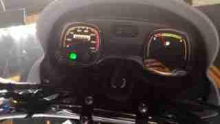 TVS Radeon instrument console meters