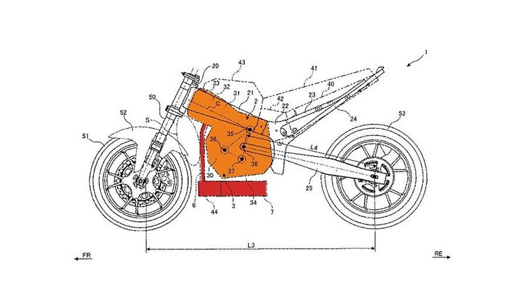 New Suzuki Up-side down horizontal engine design