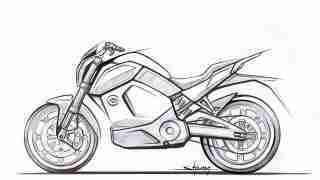 Electric bike from Revolt sketch