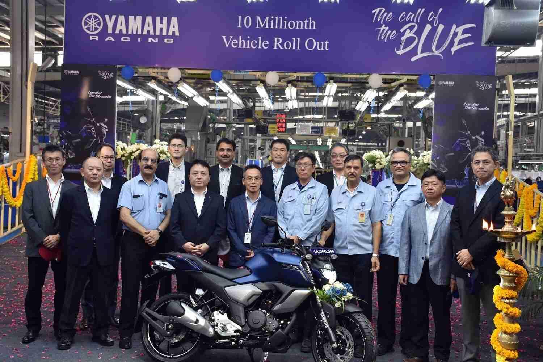 Yamaha reaches 10 million units production mark in India
