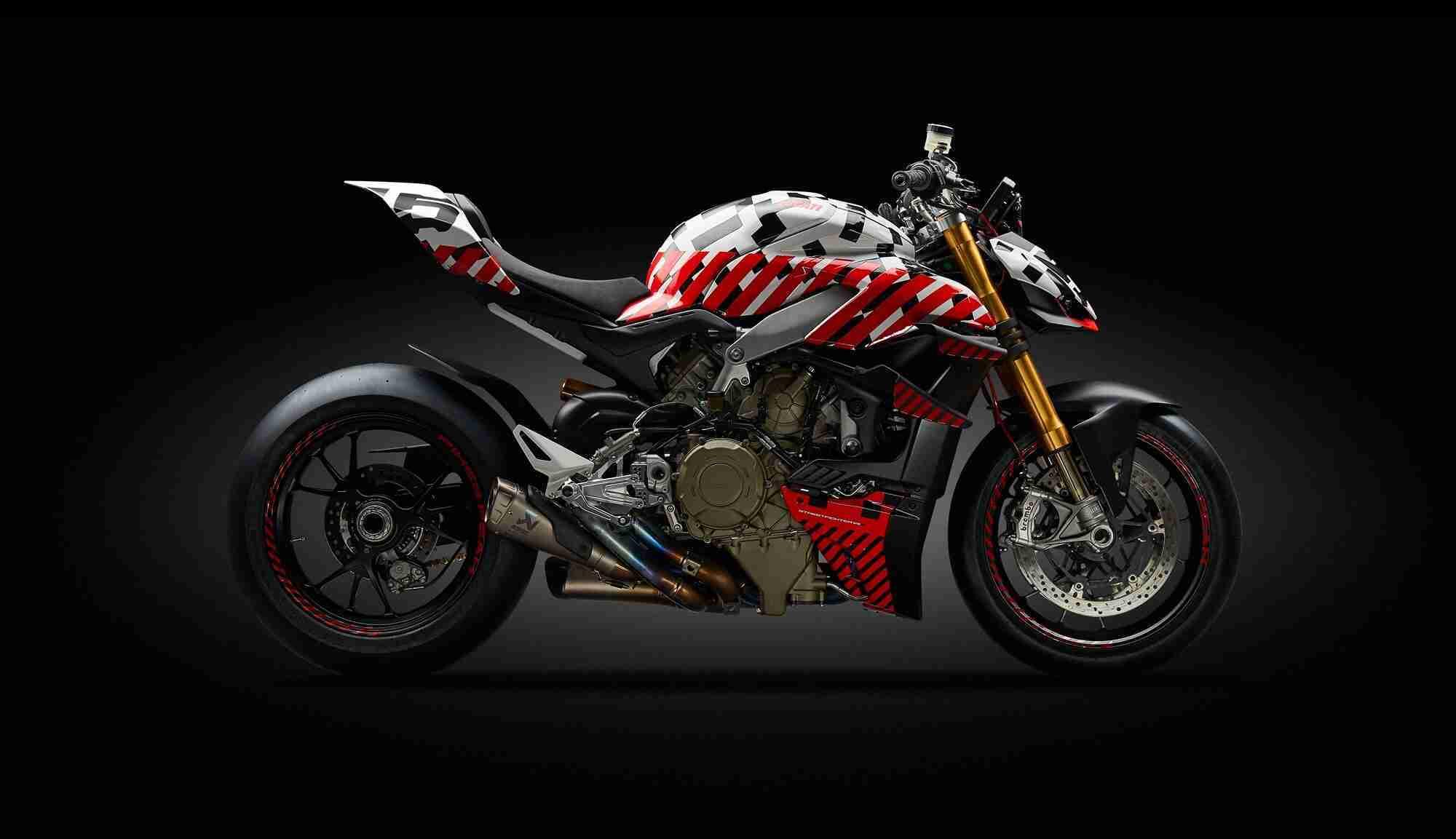 Ducati Streetfighter V4 prototype at Pikes Peak