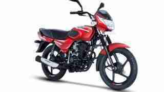 Bajaj CT 110 red colour option