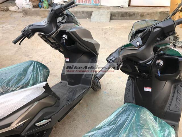 Suzuki Burgman Street matte black colour spy shot