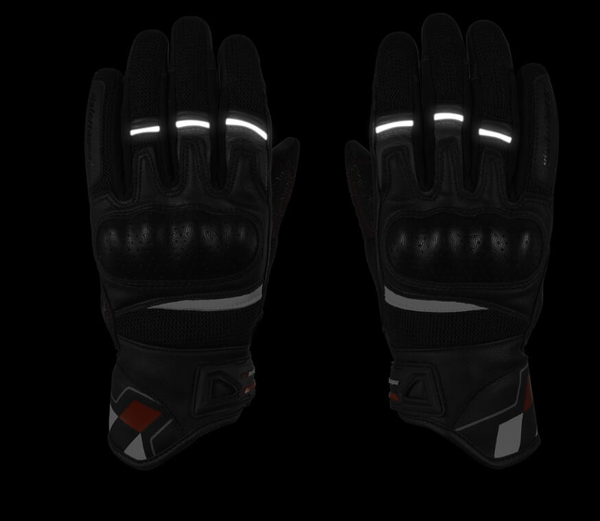 ViaTerra Holeshot gloves palm-side view