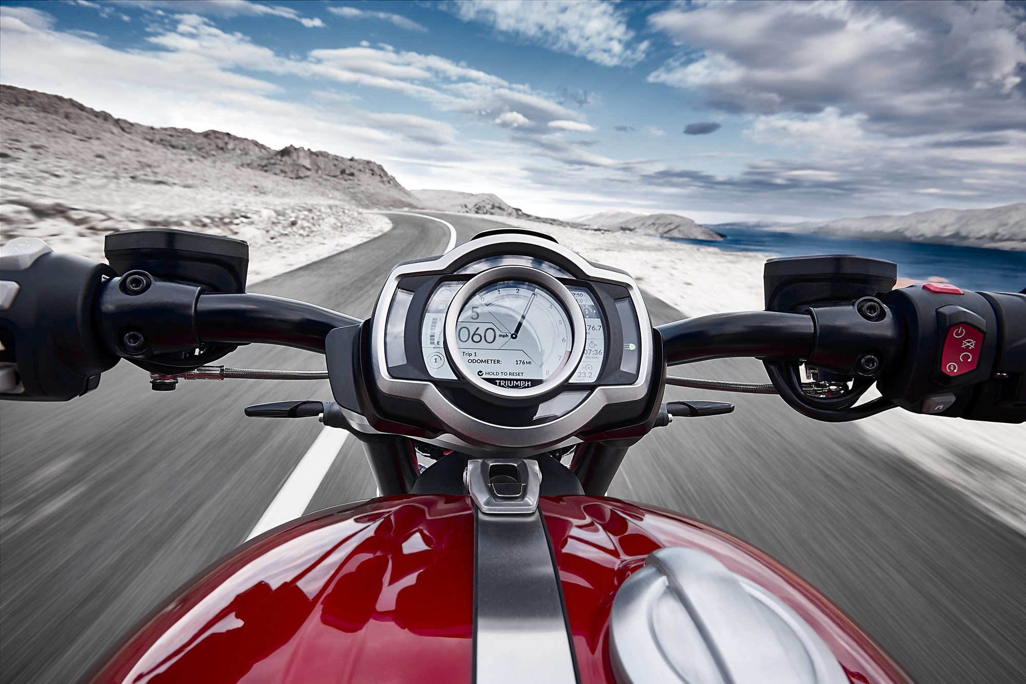 2019 Triumph Rocket 3 R and GT speedometer