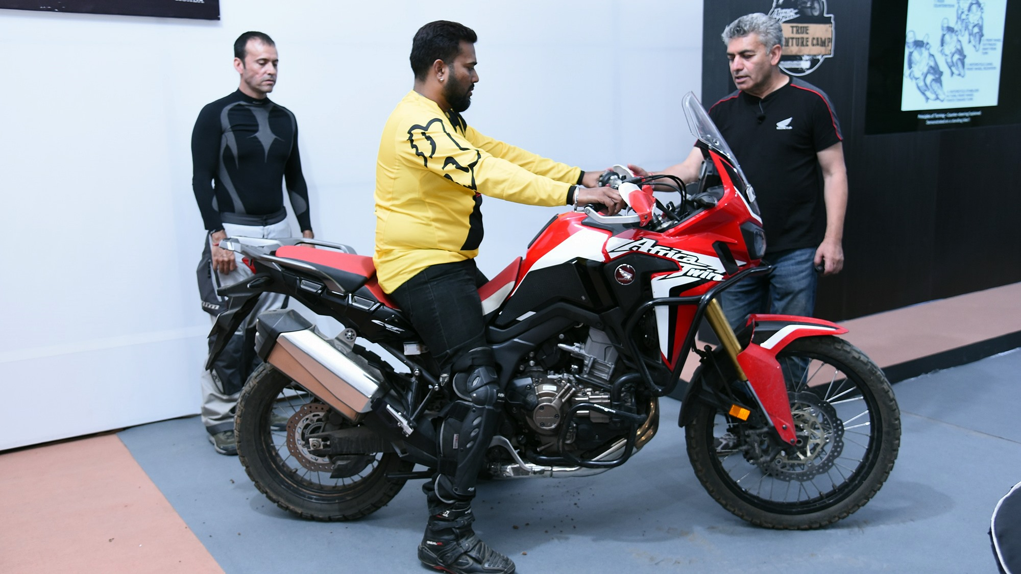 Honda Africa Twin True Adventure Camp reaches Bengaluru with Off-Riding Guru Vijay Parmar training the riders