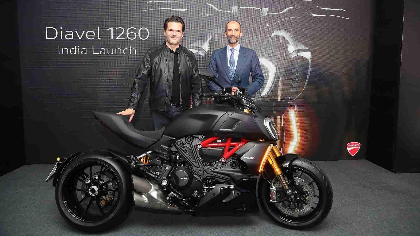 Sergi Canovas and Pietro Sferra Carini Ducati Diavel 1260 launch