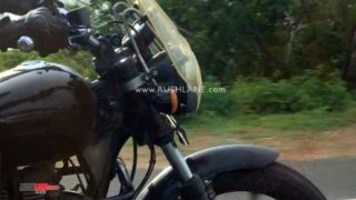 2020 Royal Enfield Thunderbird-test mule-touring accessories