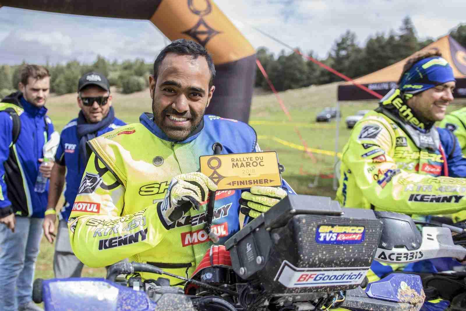 Abdul Wahid Tanveer Sherco TVS rider