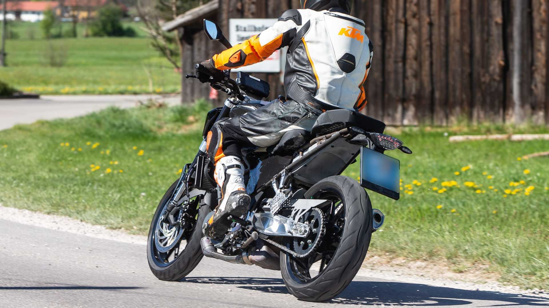 All new Duke 390 prototype for 2021 back seat