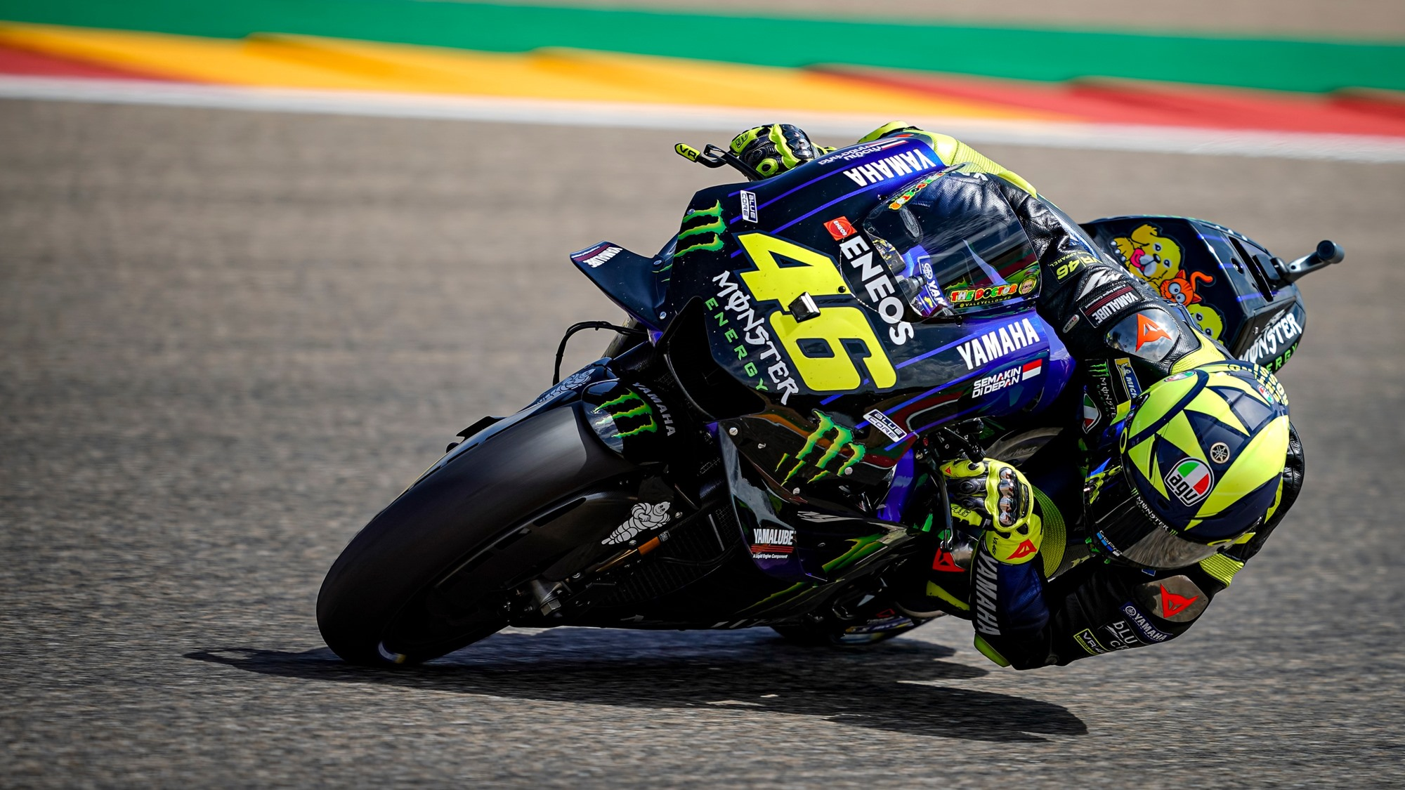 Valentino Rossi Aragon 2019 Motogp Hd Wallpaper Iamabiker Everything Motorcycle