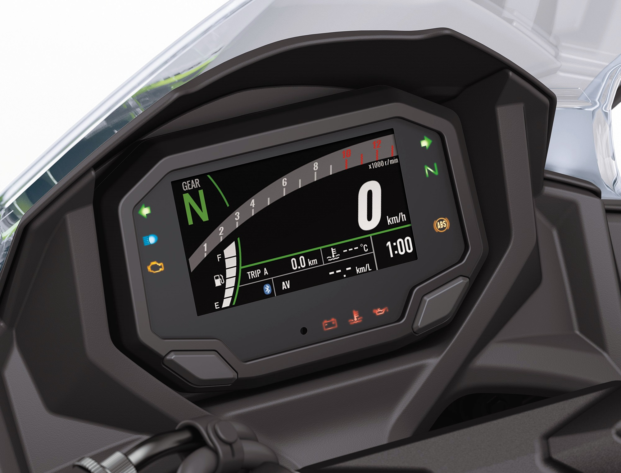 2020 Kawasaki Ninja 650 instrument display meters