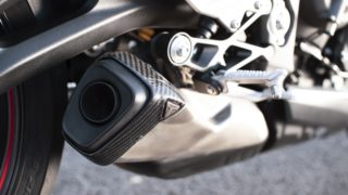 2020 Triumph Street Triple RS exhaust silencer