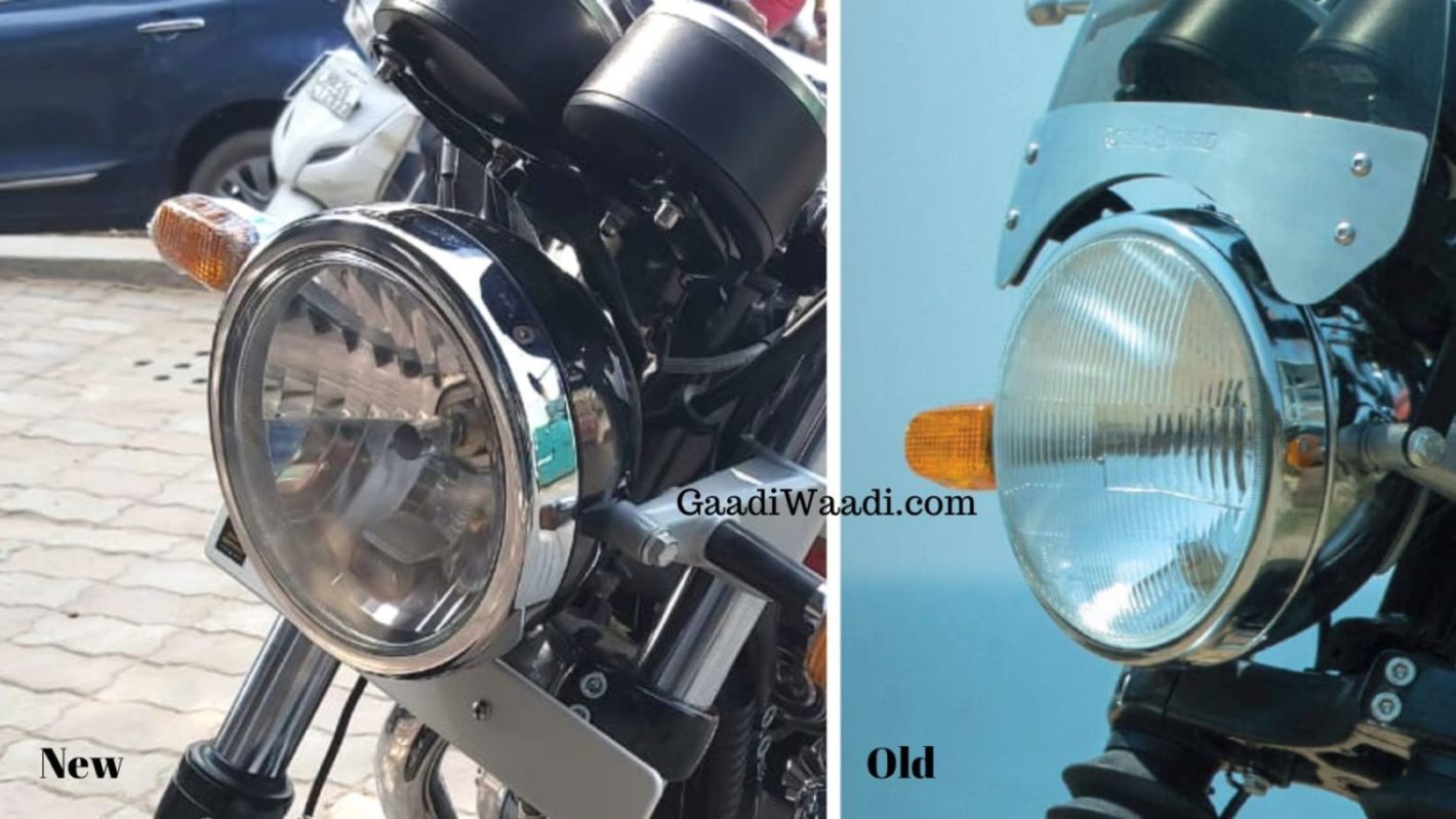 Royal Enfield Interceptor 650 with clear lens headlamp
