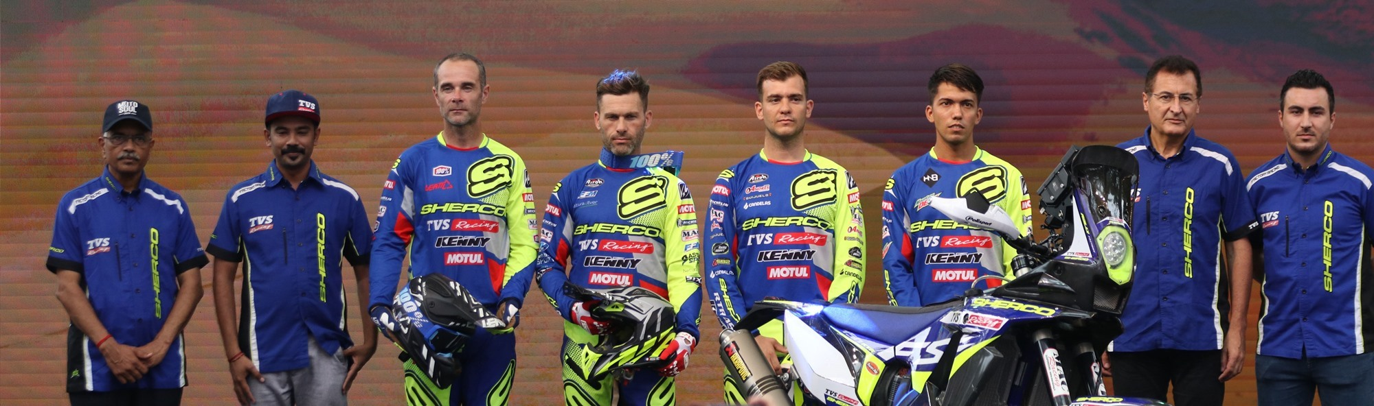 Sherco TVS Rally Factory Team announces riders for Dakar Rally 2020 - Johnny Aubert, Michael Metge, Lorenzo Santolino, Harith Noah