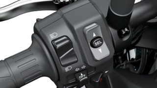 2020 Kawasaki Z900 riding mode traction control switch
