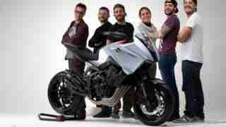 Honda CB4X concept team