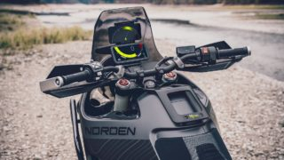 Husqvarna Norden 901 concept handle bar tft screen